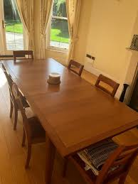 now sold marks and spencer s large dark wood dining table set