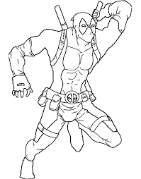 Small Picture Printable Deadpool Coloring Pages Cool Farm Coloring Page