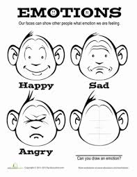 Small Picture Emotions Worksheet Educationcom