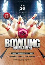 Bowling Event Flyer Template Bowling Tournament Psd Flyer Template