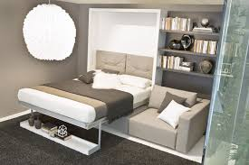 murphy bed sofa twin. Modern White Lacquer Murphy Bed With Gray Upholstered Headboard And Canvas Fabric Loveseat, Twin Wall Bed: Bedroom, Furniture Sofa L