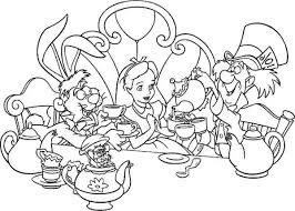 Small Picture Alice in Wonderland Coloring Page