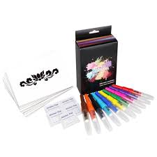 Opawz 10pcsset Blow Pens With 24pcs Tattoo Stencil For Kids And Petsnon Toxic