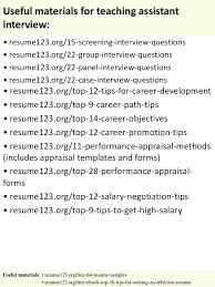 Resume For Assistant Teacher Resume Teacher Assistant Teacher ...