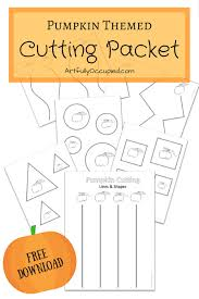 Fall Pumpkin Cutting Practice Packet Lines Shapes