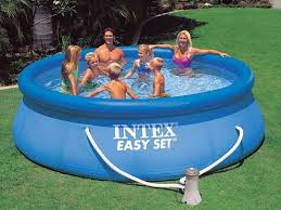 above ground inflatable pool. Interesting Above Above Ground Inflatable Intex Pool With Filter Pump 4 Lightbox Moreview Inside I