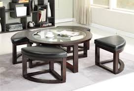 coffee table round tableth stools underneath fabric india with ottomans canada s