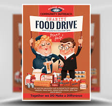 Food Drive Flyers Templates Charity Food Drive Flyer Template Flyerheroes