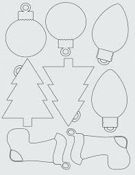 Tree Shape Template Free Christmas Shapes Templates Printable