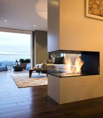 3 sided electric peninsula fireplace multi three canada narrow
