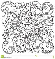 Small Picture Coloring Pages For Adults Henna Mehndi Doodles Abstract Floral
