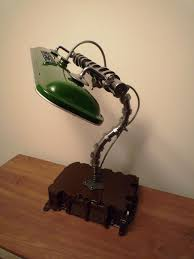 Side View Steampunk Bankers Lamp Automotive Decor Lighting