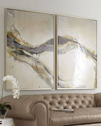 on set of two framed wall art with two piece ascent giclee on canvas wall art set neiman marcus