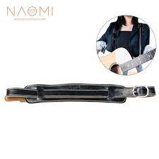 <b>Naomi electric guitar strap</b> leather black adjustable shoulder strap ...