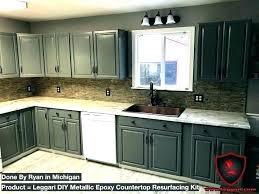 resurface countertop before resurfacing after countertops diy