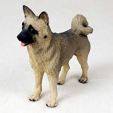 akita figurine hand painted collectible statue fawn