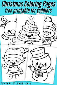We have some delightful santa images along with a cute one of mrs. Christmas Coloring Pages For Toddlers Free Printable