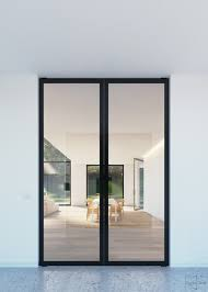 Double Glass Pivot Door With Compact Glass Patch Fittings With - Exterior pivot door