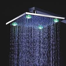 shower led lighting. 8 Inch Chrome Brass Shower Head With 4 LED Lights Led Lighting G