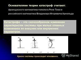 Презентация на тему Теория катастроф НАЧАЛА © Саркисян В  5 Начала