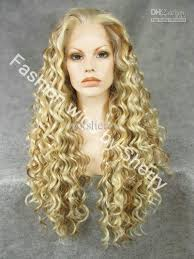 Long blonde curly wigs