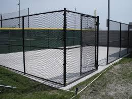 chain link black vinyl fence