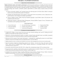Construction Superintendent Resume Template And Resumes Sample 2