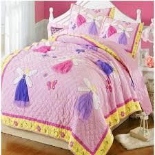 Free shipping 2pcs 100%cotton handmade applique patchwork quilt ... & Free shipping 2pcs 100%cotton handmade applique patchwork quilt for girl twin  size fairy bedspread Adamdwight.com