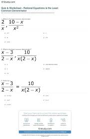 finding least common denominator worksheet free worksheets library ...