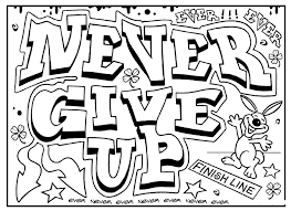 Small Picture Quote coloring pages never give up ColoringStar