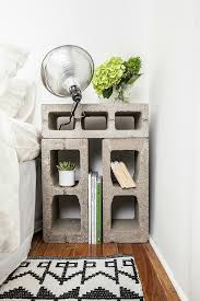 ... Nightstand made out of cinder blocks [Design: The New Design Project]