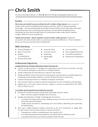 Monster Sample Resume Waiter Resume Examples For Letters Job