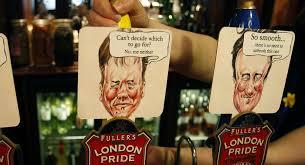 Support Britain's Pint Proper Sputnik International For A Pledge Drinking Beer - Politicians