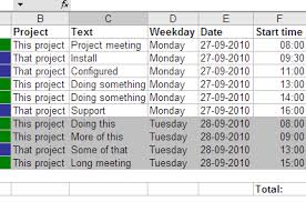how to make a time schedule in excel gtimereport creating time reports from your google calendar to