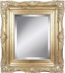 com 4 silver ornate baroque french style framed beveled wall mirror 24x36 inch home kitchen