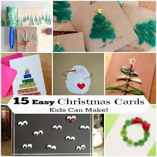 Diy Christmas Cards 15 Diy Christmas Cards Kids Can Make Letters From Santa