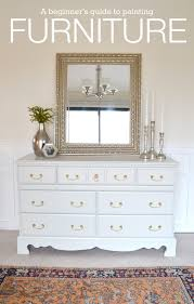 painting wood furniture whiteLiveLoveDIY How To Paint Furniture why its easier than you think