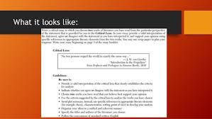 writing a critical lens essay  writing a critical lens essay nys ela regents 2 what it looks like