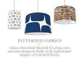 lighting lamp shades. Patterned Fabric Shades Lighting Lamp