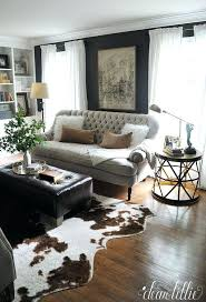 cowhide rug decor brazil living room small traditional curved sofa and ideas dec