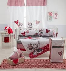 disney red minnie mouse crib bedding set
