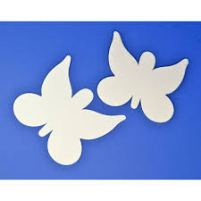 16 Large White Card Butterfly Shapes For Kids Crafts Kids Insect Bug Crafts