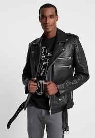 bianco leather jacket black