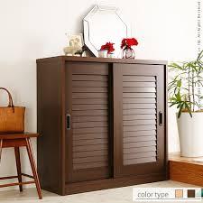 """Shoe rack door storage cupboard """"sliding doors louvred shoe rack  Clematis [Clematis]"""