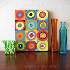 easy canvas paintings for kids the idea stems from an artwork by russian abstract painter