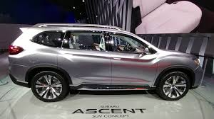 3 row subaru 2018. Beautiful Subaru Subaru Ascent Concept SUV Third Row Seating Review For 3 Row Subaru 2018 E