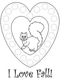 Autumn Bingo Dauber Coloring Pages