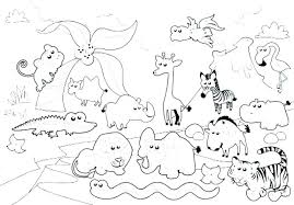 Zoo Animals For Coloring Pizzafoodclub