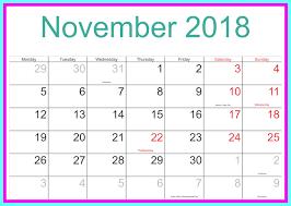 november 2018 calendar uk with holidays