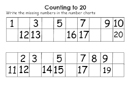free counting worksheets 1 30